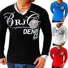 Herren Sweat-Shirt Longsleeve Langarm Shirt 2in1 Sweatshirt Pullover S M L XL
