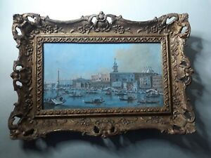 A Giacomo Guardi gouache painting of Venice signed on the back