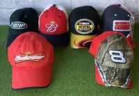 Lot of 6 Nascar Racing Hats Race Budweiser Amp Hendricks Dale Jr Earnhardt