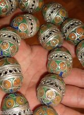 Perle Email Ethnique Metal Maroc 34mm Tribal Ethnic Tribal Bead Morocco Africa
