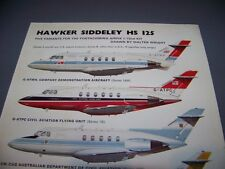 VINTAGE..HS 125 VARIANTS...5 COLOR PROFILES..RARE! (59L)