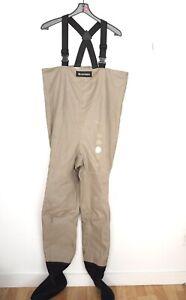 Simms Chest Waders Fishing Stocking Foot Mens Medium Suspenders USA Neoprene