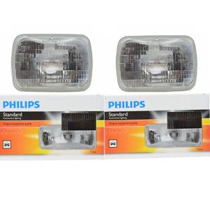 2 pc Philips High Low Beam Headlight Bulbs for Pontiac Acadian Bonneville xq