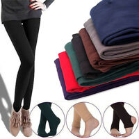 Warm Women Winter Leggings Thick Fleece Stretch Skinny Pants Footless Stirrup