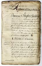 Alsace, Elsass, Handschrift von 1775, Mülhausen, Mulhouse