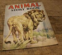 Antique Vtg Childs Book Animal Story The Saalifield Pub. Co 1943