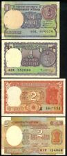 INDIA 1-2 RUPEES 1976-86 P77-53 4 PC. SET UNCIRCULATED