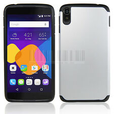 "For 5.5"" Alcatel One Touch Idol 3 Hybrid Armor Case Hard Impact Protective Cover"