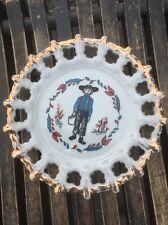 Vintage 1950's Pa Dutch Amish T1597 Souvenir Plate Gold Trim