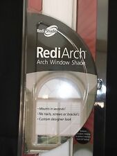 "REDISHADE REDIARCH ARCH WINDOW SHADE NEW WHITE FABRIC PEEL&STICK 12"" UP TO 48"""