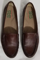 SAS TRIPAD COMFORT Womens Brown Leather Loafers Flats Slip-on Comfort Shoe Sz 9M
