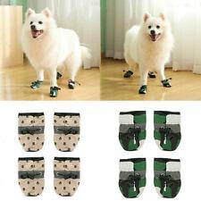 Anti-rutsch Wasserfest Schutz Hund Schuhe Regen Haustier Socken Babyschuhe 4X  Q