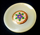 """Large Celluloid with  Separate Metal Floral Center…1&5/16""""...Vintage Button"""