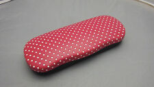 polka dot clam shell eyeglass case ! hard shell case in one of 3 colors