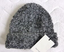 PAUL SMITH Grey Black Mix Wool Beanie Hat Toque MADE IN ITALY Tags New OSFA