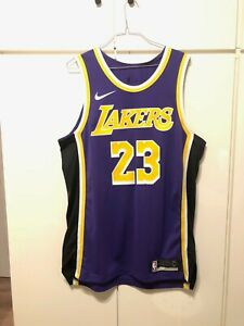 NBA Lebron James Los Angeles Lakers Nike Authentic Jersey sz. 48
