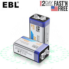 2pack EBL 280mAh 9 Volt 9V 6F22 Ni-MH Nickel Metal Hydride Rechargeable Battery
