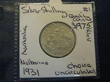 Australia Florin 1931 Silver Shilling  Choice Uncirculated +  Top Coin #1 Nice