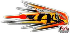 "(SKID-4R) RIGHT 12"" SKIDOO SKI-DOO SNOWMOBILE REV SPEEDING BEE DECAL STICKER"