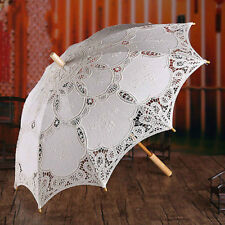 Beauty Lace Embroidered Parasol Umbrella Bridal Wedding Party Decor Accessories