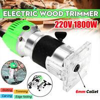 6MM 220V 1800W Elettrofresatrice Fresatrice Elettrica Trimmer Router Fresa Legno
