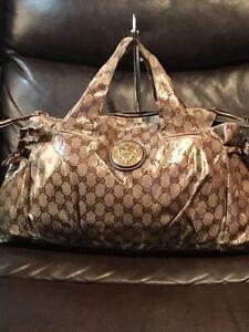 GUCCI GG Crystal Hysteria Tote Bag Mini Duffle Bag Hand Bag 197021