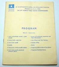 1963 TABLE TENNIS World Championships Official PROGRAM programme PING PONG