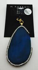 INC International Concepts Blue Agate Pendant Msrp $22.50