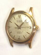 Vintage Swiss Gold Plated GENEVE SUPER AUTOMATIC 25 Jewel Mens Dress Watch