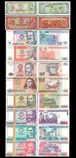Lot of 10Pcs Peru 5+10 Soles,+10+50+100+500+1000 +5000+10000+50000 Intis,Unc
