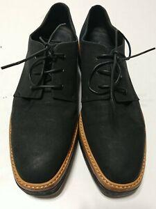 VINCE Tanner Black Suede Nubuck? Platform Lace Up Oxfords Shoes US 9M EUR 39 WMM