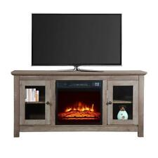 """New 51"""" Wood Cabinet TV Stand Electric Fireplace Heater Timer Remote Control US"""