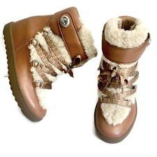 Coach Monroe Shearling Fur Trim Boots