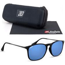 Jim Dale Sonnenbrille Unisex Schwarz Blau verspiegelt UV400 Markenbrille Herren