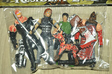 VERY RARE ACTION FIGURES TOY MEXICAN PACK 5 FIGURES RESIDENT EVIL NEMESIS 4 INCH