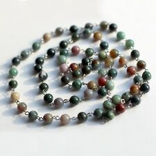 Mix Gemstone Beaded iron Chain for Necklaces or Bracelets Making 1m (3,2feet)