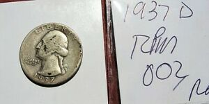 1937 D Washington Quarter, RPM REPUNCHED MINT MARK  RPM 003 Super Rare Variety