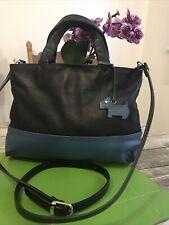 Medium Black/blue Leather Genuine Radley London Handbag / Satchel/Cross Body Bag
