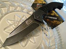 Mtech Xtreme Assisted Open Black Wash Steampunk Hunter Pocket Knife A829BK 440