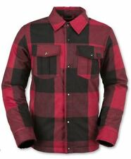 2016 NWT YOUTH BOYS VOLCOM BISON INSULATED FLANNEL JACKET $90 M red checkered