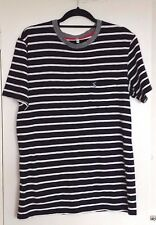 """JOULES """"Rowden"""" Blue and White Striped T-Shirt, Small, VGC"""