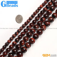 """Natural Red Tiger's Eye Gemstone Round Beads Free Shipping 15"""" 6mm 8mm 10mm 12mm"""