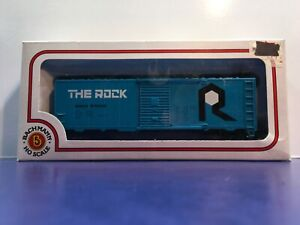 "HO Scale ""The Rock"" 57025 40 Foot Freight Train Box Car W/Box"