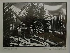 BERNARD BRUSSEL-SMITH (AMERICAN, 1914-1986) ORIGINAL SIGNED WOOD ENGRAVING.