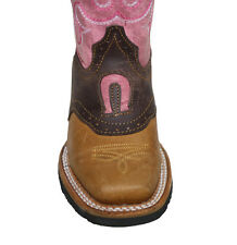 children youth sizes cowboy boots leather square toe rodeo Style# Kids Toddler