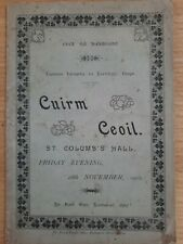 More details for very rare derry music gaeilge concert programme 1902