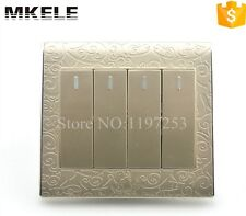 Impact Resistance Classical Design 4 Gang 2 Way Touch Wall Light Switch