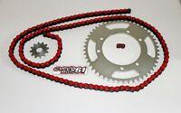 Kit Chaine Renforcé 13x53 Rouge Aprilia 50 RX + SX Racing 2006 à 2013