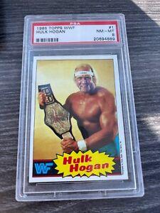 1985 TOPPS WWF WWE HULK HOGAN Rookie #1 - PSA 8 🔥🔥🔥 ICONIC CARD