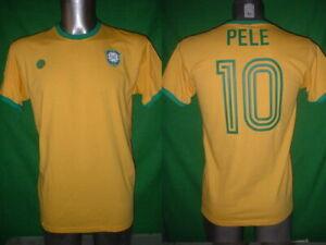 Brazil Pele Ronaldo Zico S M L XL Football Shirt New Jersey Soccer Cotton Retro